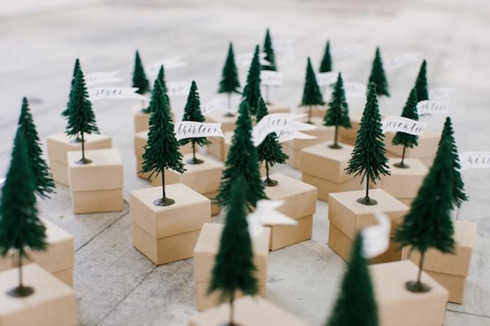 Inspiration for weddings invitations and stationery for Christmas tree advent calendar diy