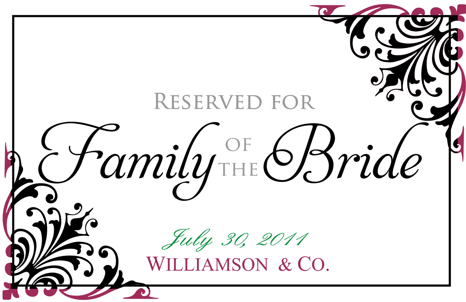 Signatures by Sarah: Wedding Stationery for Robin