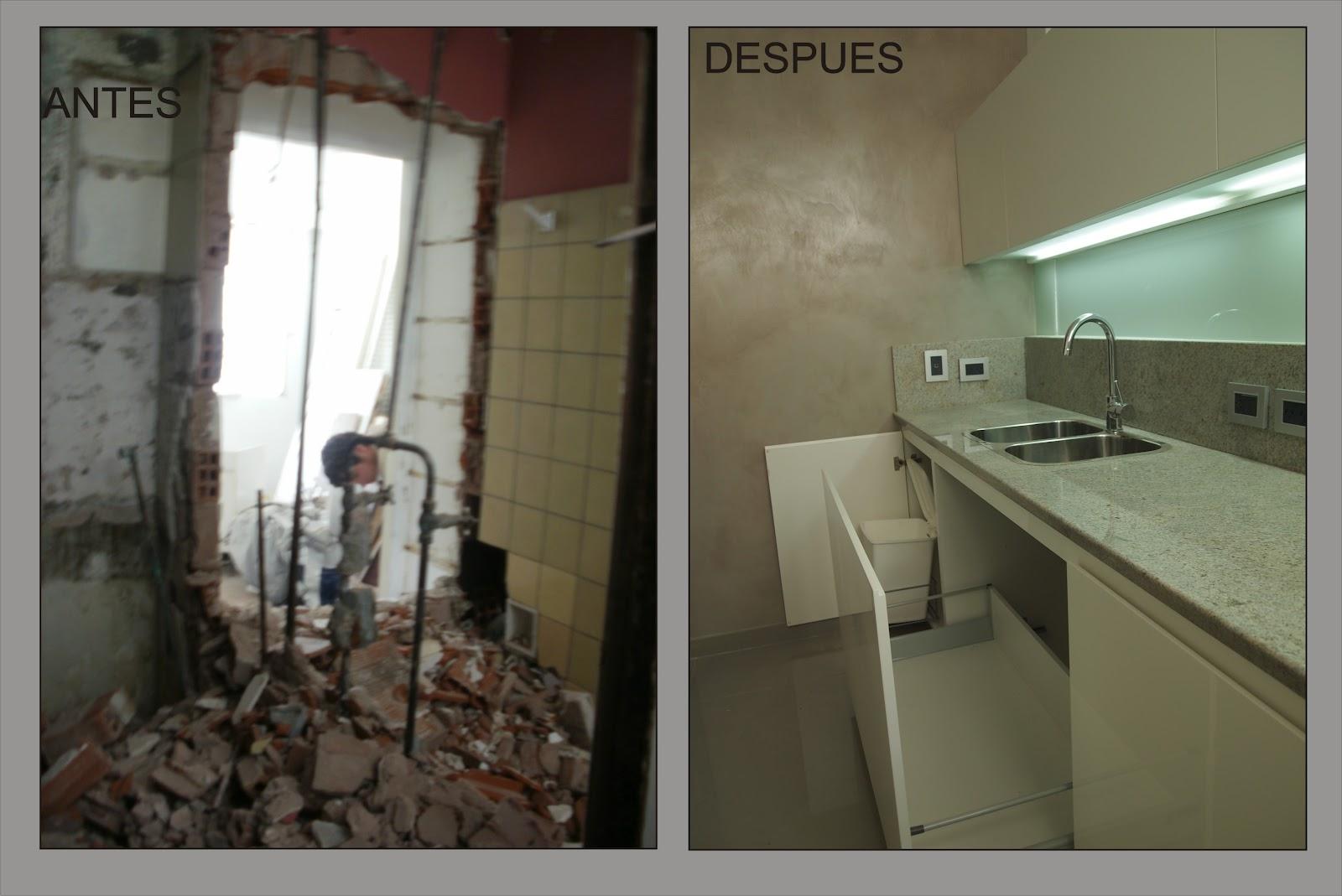 Arquitectura a tu medida remodelacion de un departamento for Remodelacion banos y cocinas