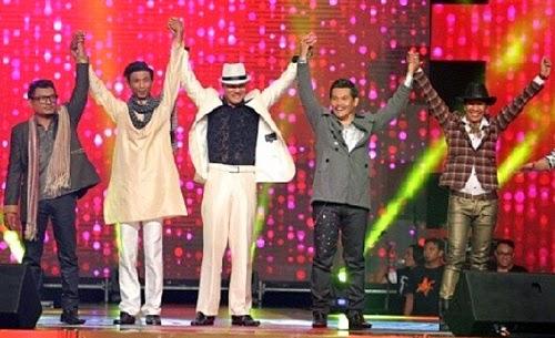 Zain, Arip, Nas, Nordin dan Ben mara ke peringkat akhir Konsert Kilauan Emas musim 4