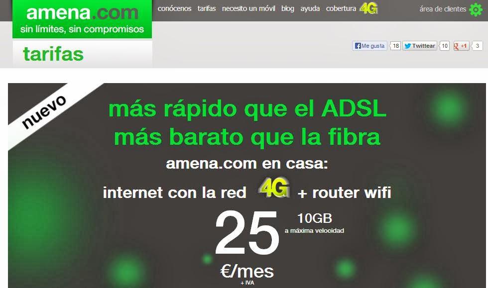 Amena 4g Internet en casa sin linea fija