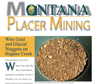 Hughes Creek Placer Mine Magazine Article