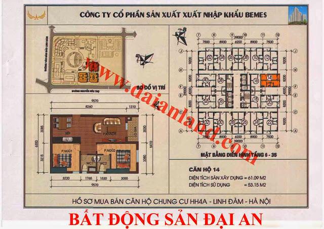 Căn hộ số 14 - Chung Cư HH4A Linh Đàm
