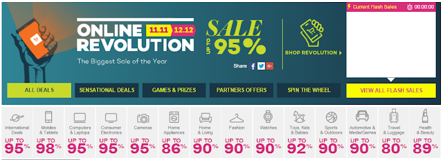 Online Revolution Biggest Sale In 2015