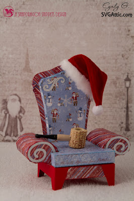 3d svg Santas Chair