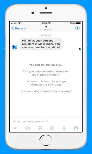 """Facebook Luncurkan """"M"""" Fitur Asisten Pribadi Melalui Messenger"""