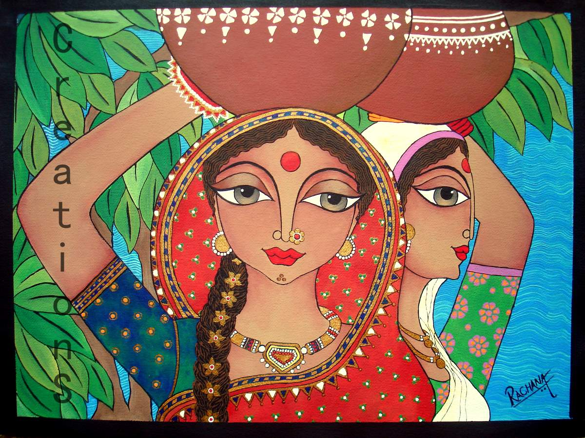 Zentangle Oil Paintings