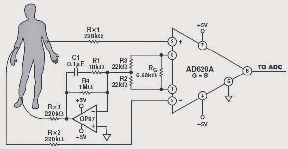 electronique  simulation d u0026 39 un signal ecg par un pic 16f877 avec dac0808