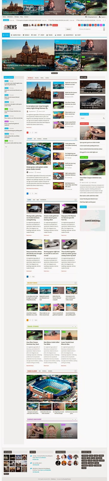 Fresh and New Magazine WordPress Theme 2015