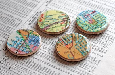 Diy map magnets