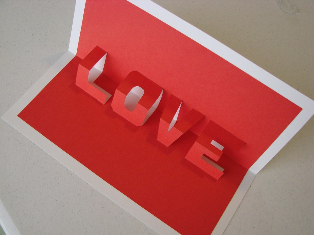 How To Make Pop Up Letters In A Card