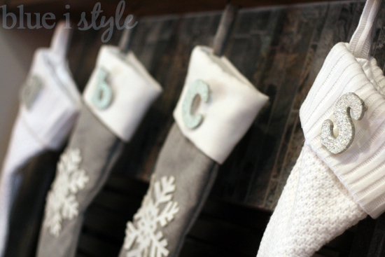 seasonal style} DIY Christmas Stocking Monogram Pins | Blue i Style