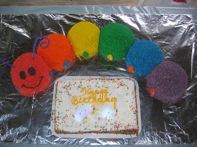 Baby Einstein first birthday cake caterpillar ball cake pan