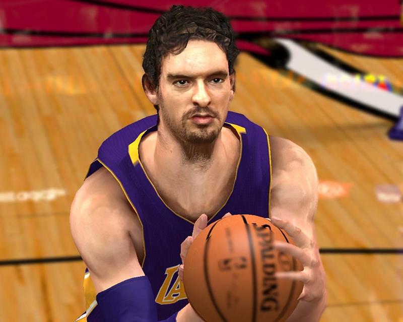 NBA 2K14 Pau Gasol Face Mod
