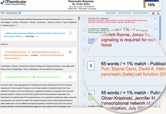 Software to check plagiarism in research paper