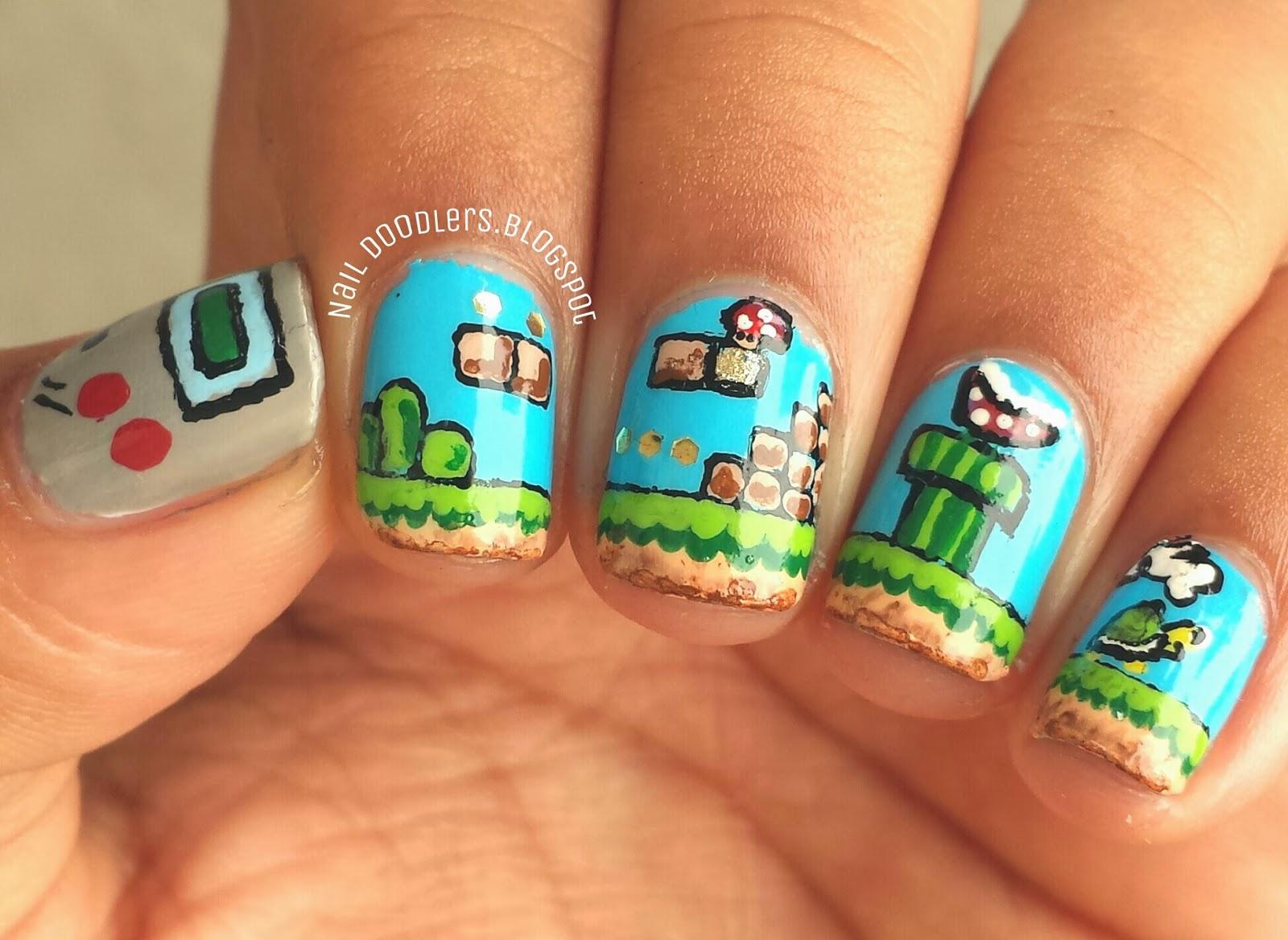Nail Doodlers: Mario Nails