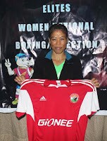 Mary Kom presented with Shillong Lajong FC jersey