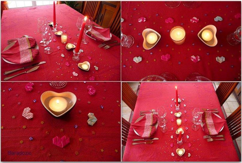 Pr parer une jolie table pour la st valentin les d lices de baradozic - Table de saint valentin ...