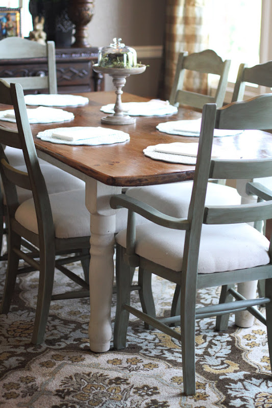 Annie Sloan Chalk Paint Ideas for Kitchen Table and Chairs