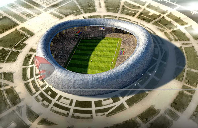 Bird Eye View Of Sport Stadium,3d Architectural Animation