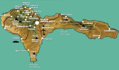 Mapa da Ilha de São Nicolau