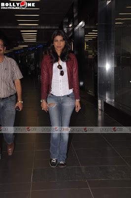Priyanka in Torn Jeans