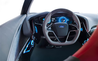 Ford EVOS Concept steering wheel