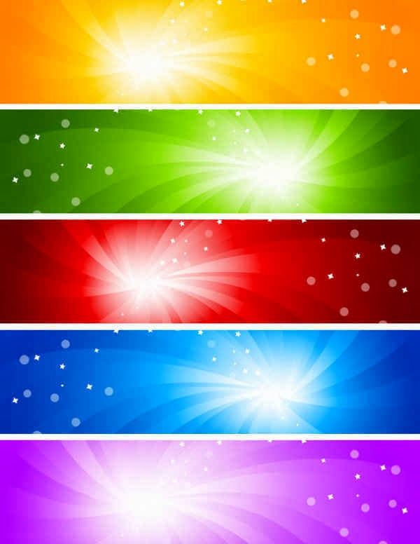 glare banner background