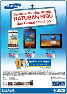 Promo Samsung Galaxy S Note, Tab 7 Plus, Tab 10.1 di Global Teleshop
