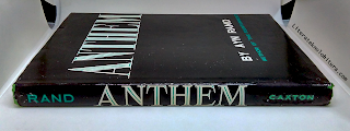 hardcover anthem by ayn rand book spine