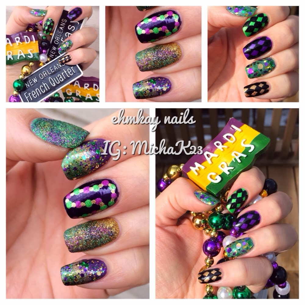 Funky Mardi Gras Nail Art Ideas Collection - Nail Art Design Ideas ...