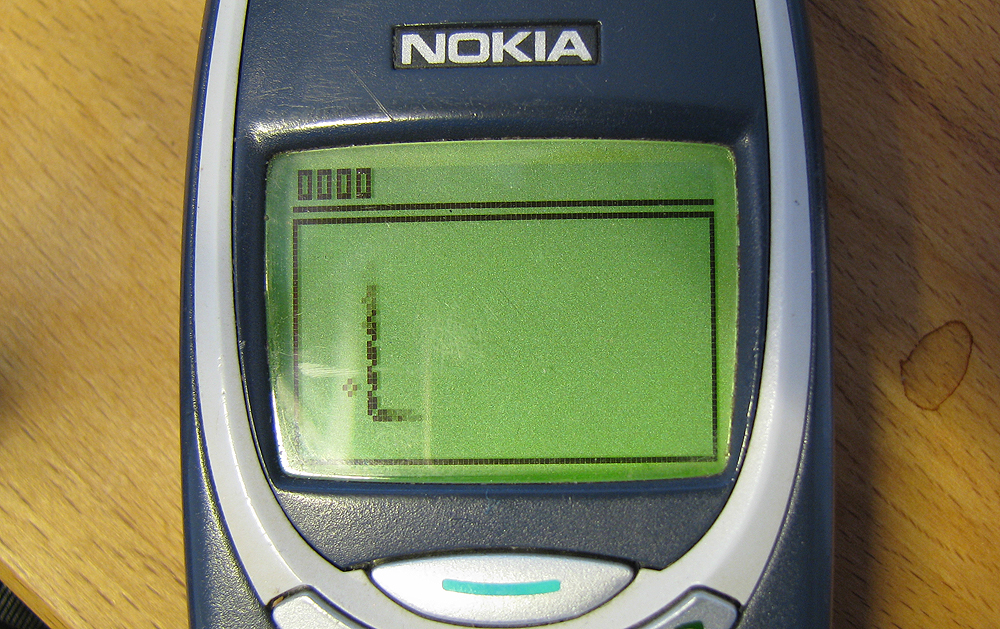 ... remember. Remember borrowing your parent's Nokia 3310 to play snake