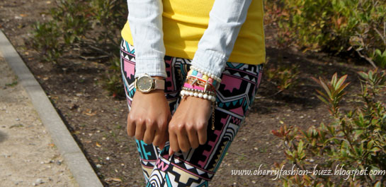 Arm Candy, ACODD, Pastel DIY bracelet, Gold spikes, Beige watch, asos watch, bracelets