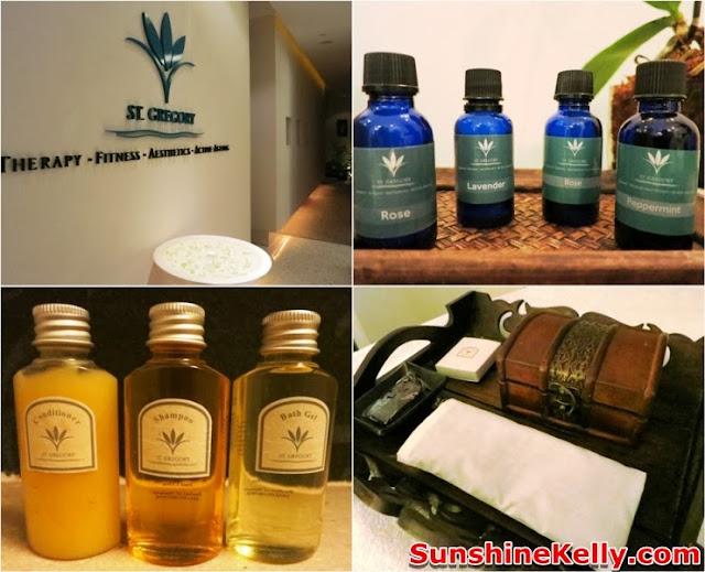 St. Gregory, Parkroyal Kuala Lumpur, massage, spa, ginger bath, shampoo, toilettries