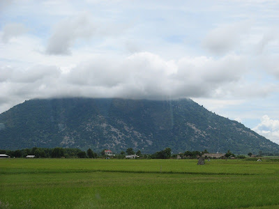 Bà Đen moutain from the field