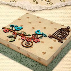 Aprenda a decorar caixa em mdf usando carimbo,decoupagem,pinturas e sombreados