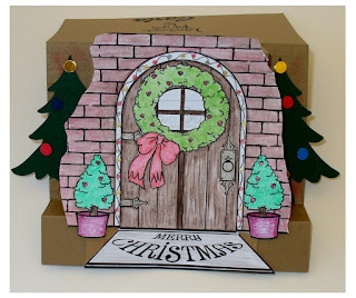 Christmas door set
