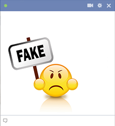 Fake smiley for Facebook