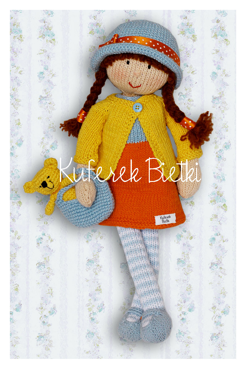 Knitting Doll How To Use : Kuferek bietki eleonora lalka wykonana ręcznie na