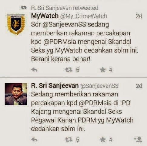 Datuk Seri Adalah Pelaku Dalam Skandal Seks Pegawai PDRM
