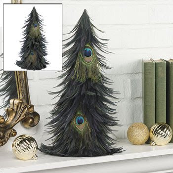 This Cute Little Pea Feather Tree Would Add The Right Touch Of Christmas Y Aura To Your Wedding Ceremony Place Them On Tables Or At Random Places In