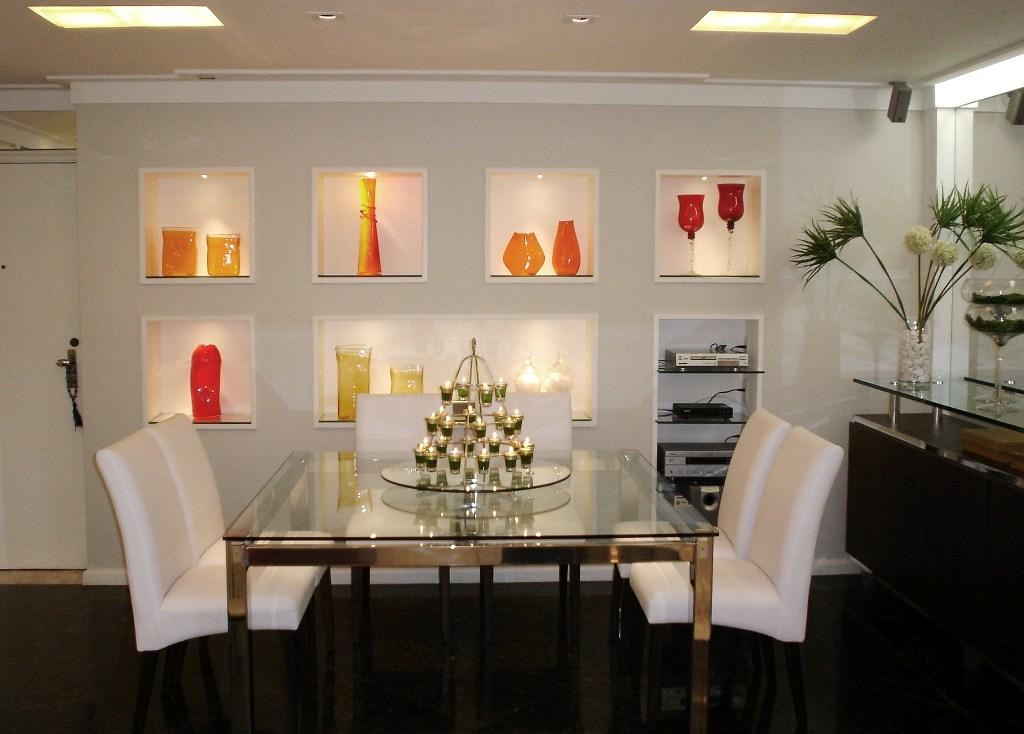 Nicho De Gesso Para Sala De Jantar ~  é do gosto do morador, escolha seu estilo e ouse bastante com nichos