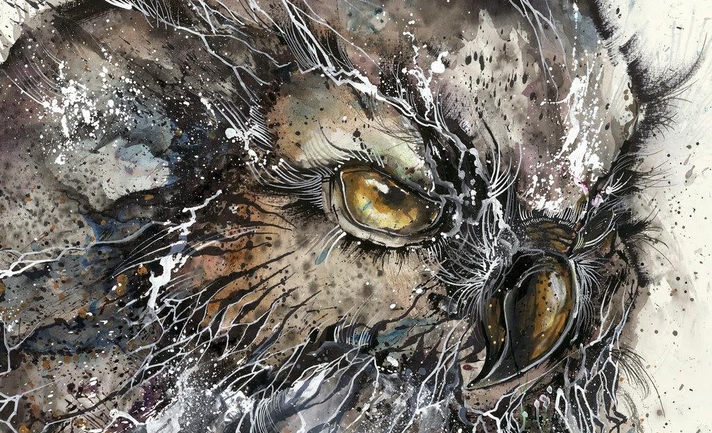 10-Owl-2-Hua-Tunan-huatunan-Melting-&-Running-Ink-Drawings-www-designstack-co