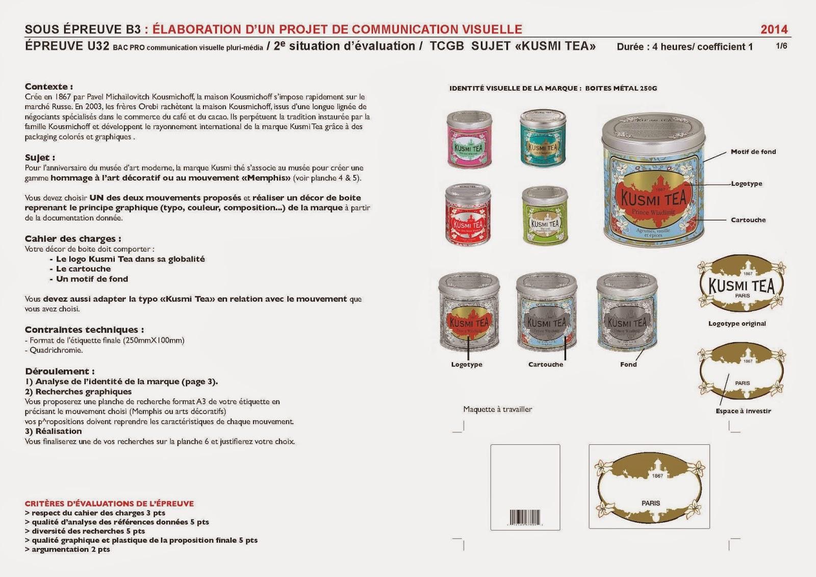 Bien connu Lycée professionnel Corvisart: CCF Projet d'arts appliqués BAC PRO  MZ35