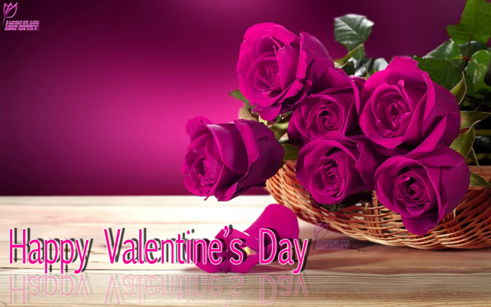 Happy-Valentines-Day-Wallpaper-Wishes-With-Flowers-Image-HD-Wide