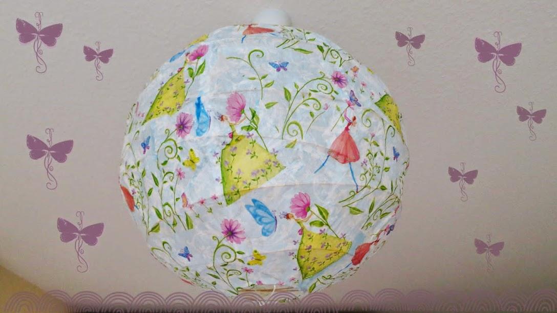 Liebste schwester tolle idee f r die kinderzimmerlampe - Papierlampe kinderzimmer ...