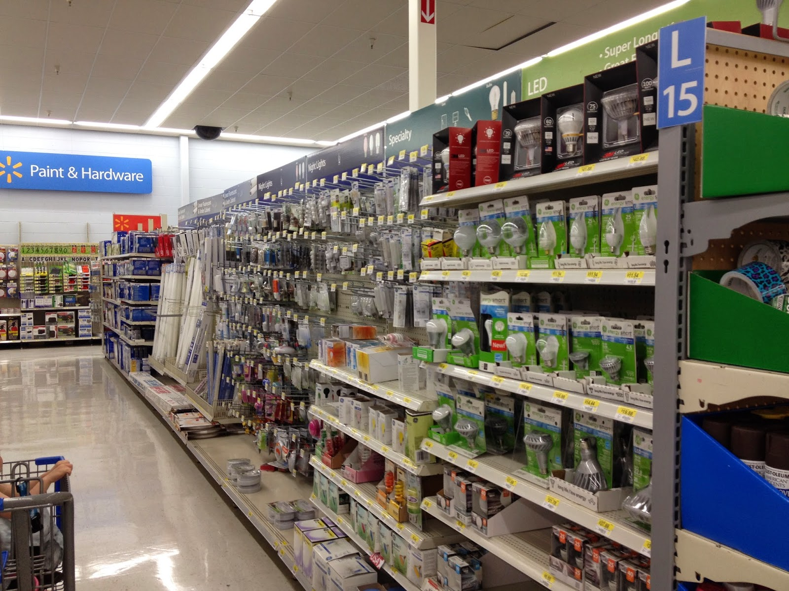 LED lights in Paint and Hardware at Walmart #LEDSavings #shop #cbias