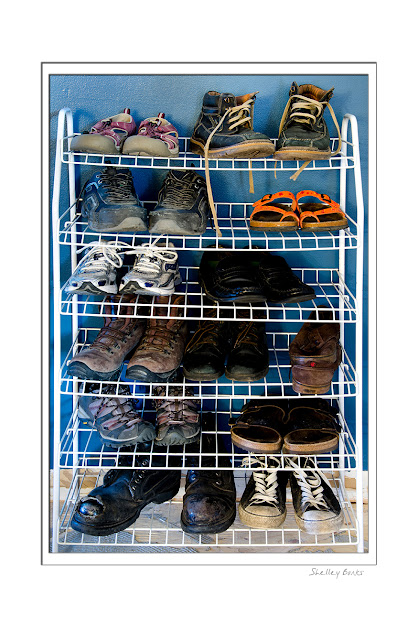 Can you guess which shoes belong to me? © SB   Copyright Shelley Banks, all rights reserved.