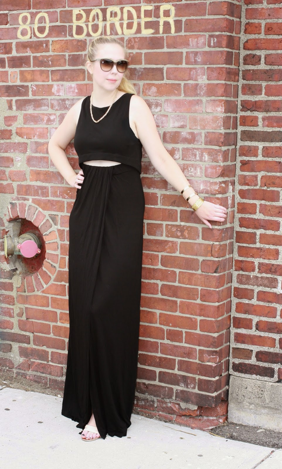How To Wear A Maxi Dress, How To Wear Gold, Outfits, Summer 2014, Boston Blogger, Boston Fashion Blog, Boston Fashion, Street Style, ALC, Intermix, Intermix Chestnut Hill, ALC Florentine Dress, How to Wear Gold