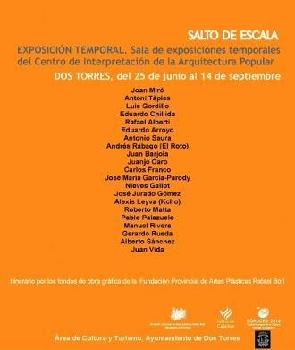 """Exposición """"SALTO DE ESCALA"""". Obra gráfica"""